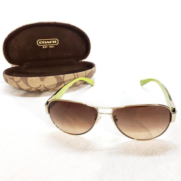 54f175349c Coach Accessories - Coach Gold Tortoise Sunglasses HC 7009 Charity